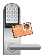 Holding Tigercard in front of lock